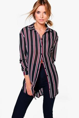 Sophie Striped Oversized Shirt