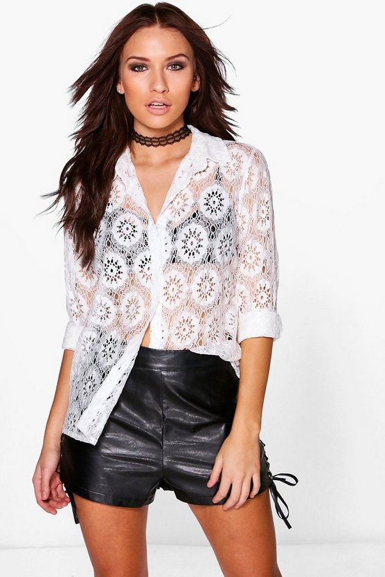 Lily Oversized Laced Shirt