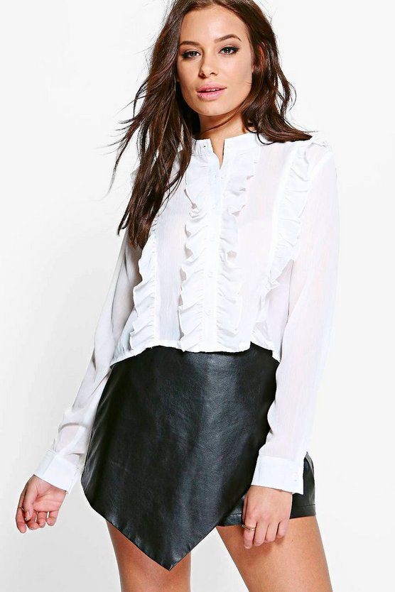 Erin Long Sleeved Ruffle Shirt