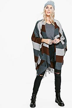 Harriet Block Stripe Cape