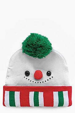 Darcey Christmas Snowman Beanie Hat