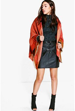 Lena Colour Block Oversized Cape