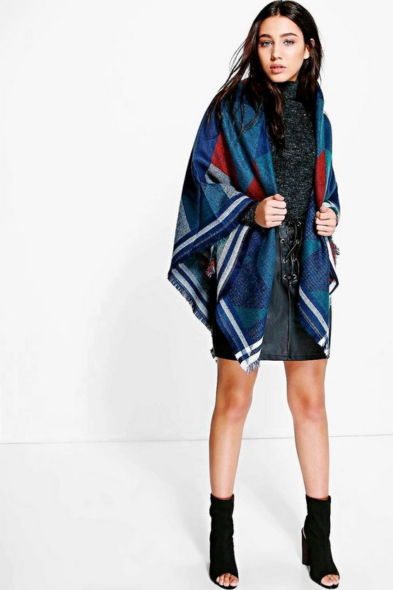 Lyla Colourblock Oversize Cape