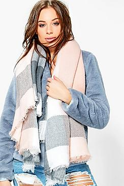 Frankie Colour Block Oversized Scarf