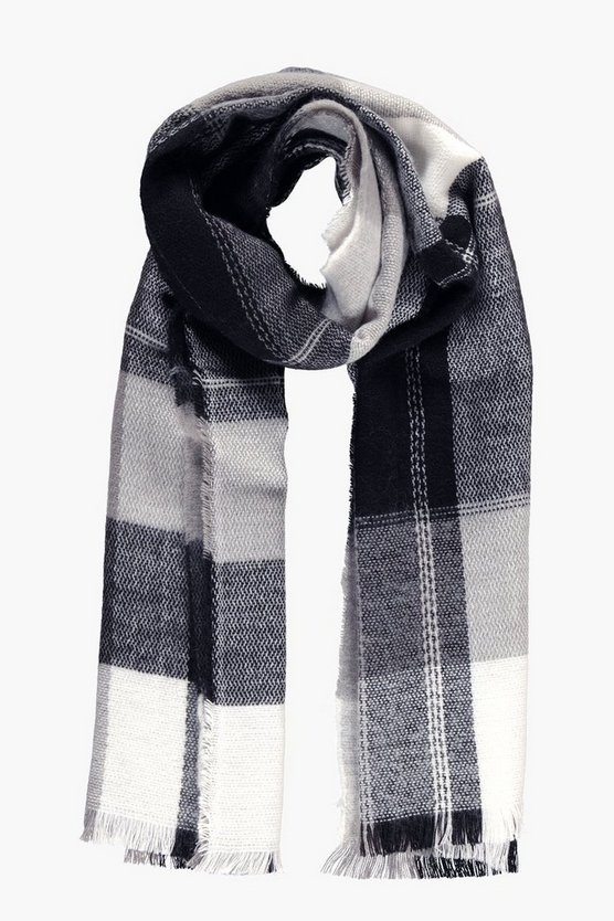 Georgina Oversize Check Supersoft Scarf