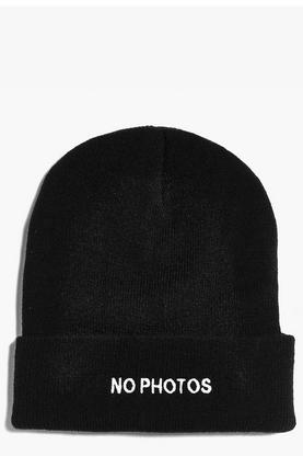 Elsa No Photos Slogan Beanie
