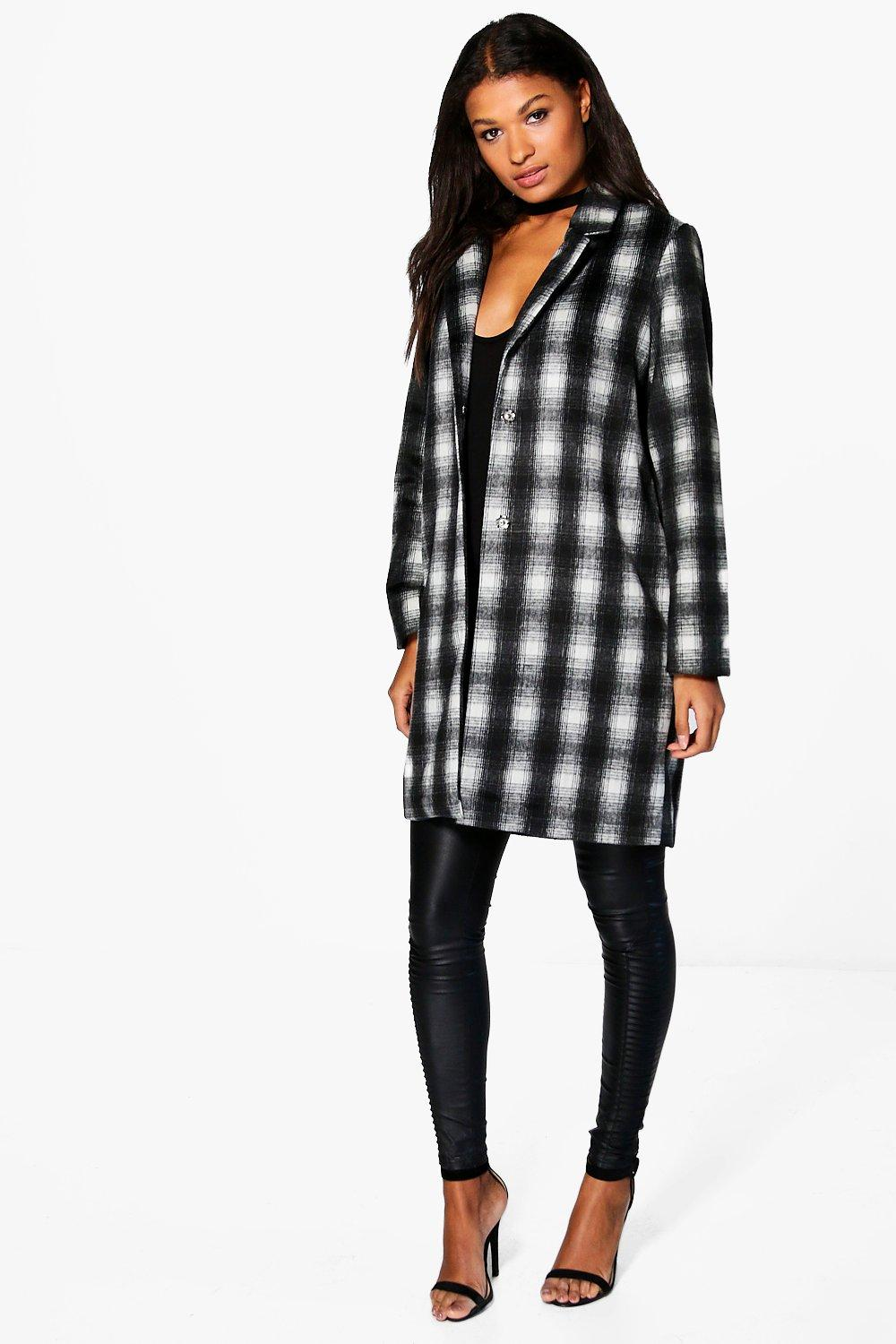 Faith Check Wool Coat