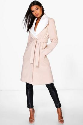 Saskia Wool Coat With Contrast Collar