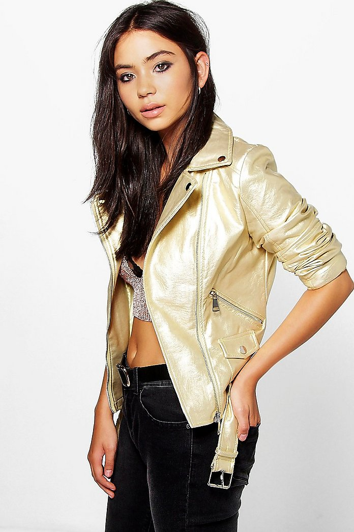 Martha Metallic Biker Jacket