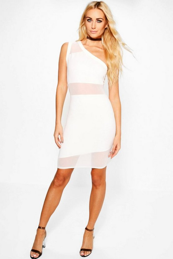 Agatha Mesh Insert Bodycon Dress