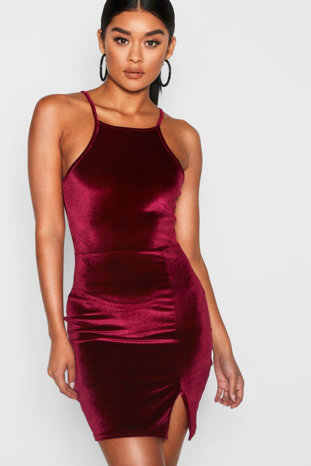 http://www.boohoo.com/harmony-velvet-strappy-bodycon-dress/DZZ65549.html?color=undefined