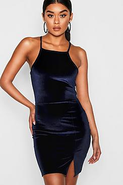 Harmony Velvet Strappy Bodycon Dress