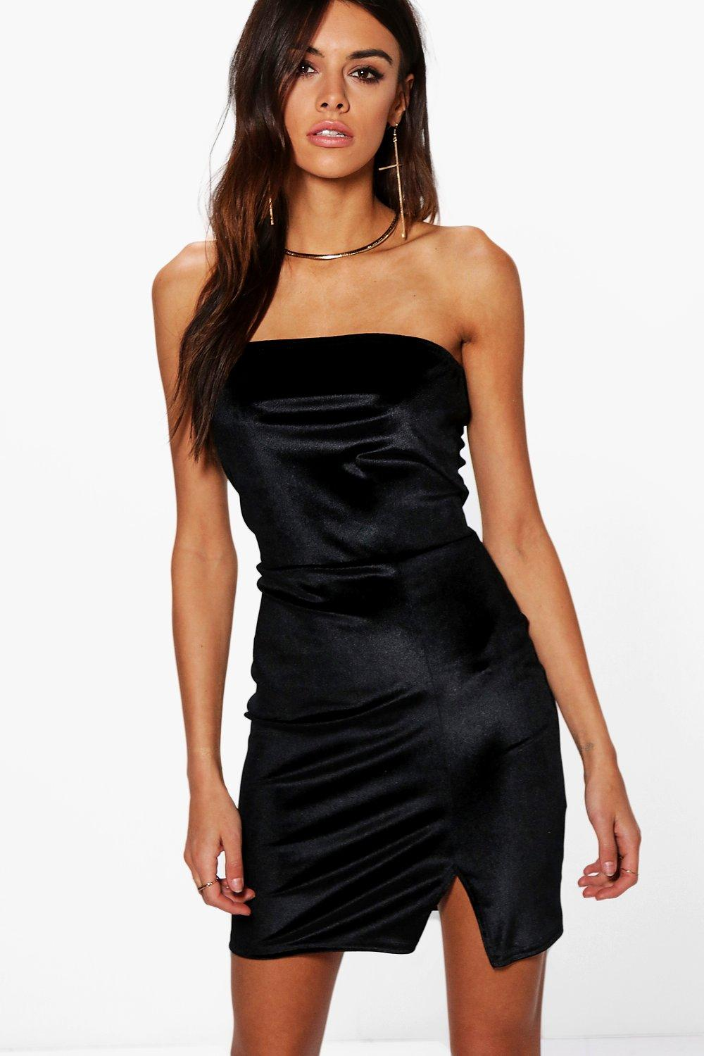 Juanita Velvet Bandeau Bodycon Dress