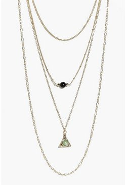 Nina Layered Double Pendant Necklace