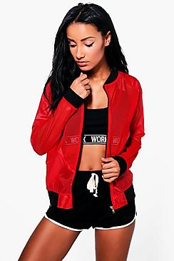 Paige Fit bomber Sports Jacket