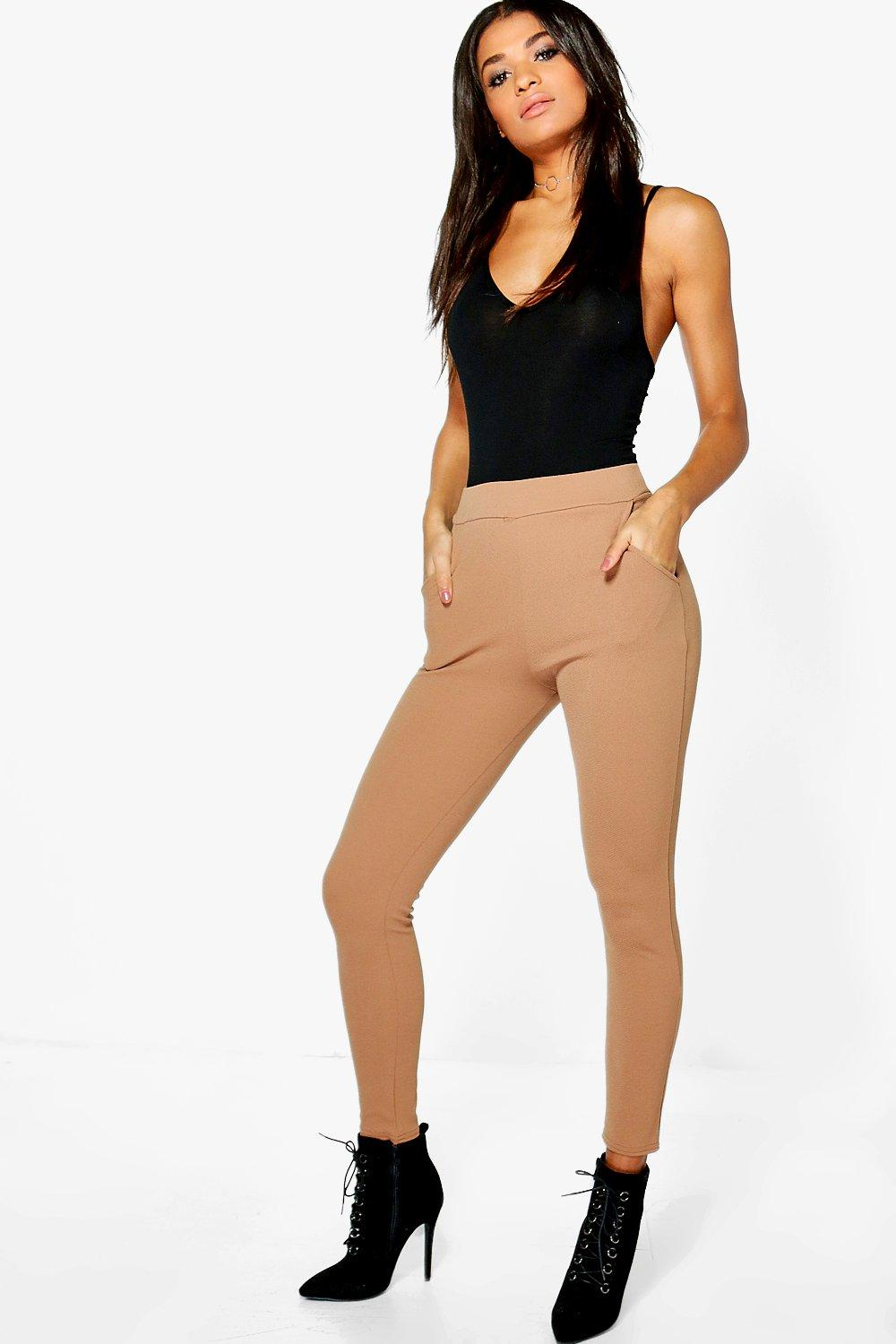 Eva Crepe Stretch Skinny Trousers