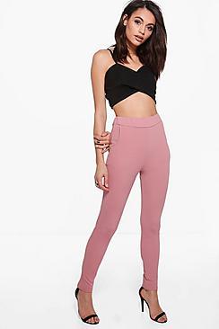 Eva Pantalon Skinny Stretch Crêpé
