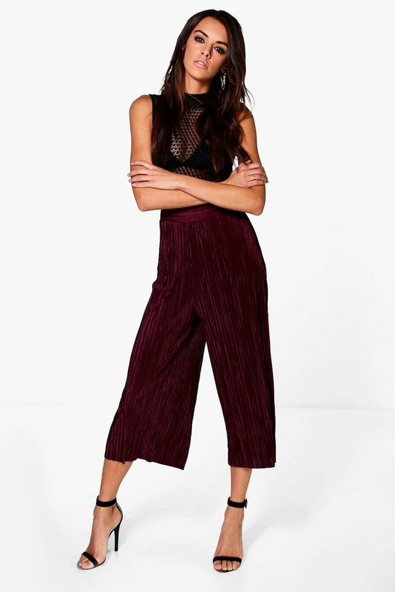 Ruby Pleated Wide Leg Culottes