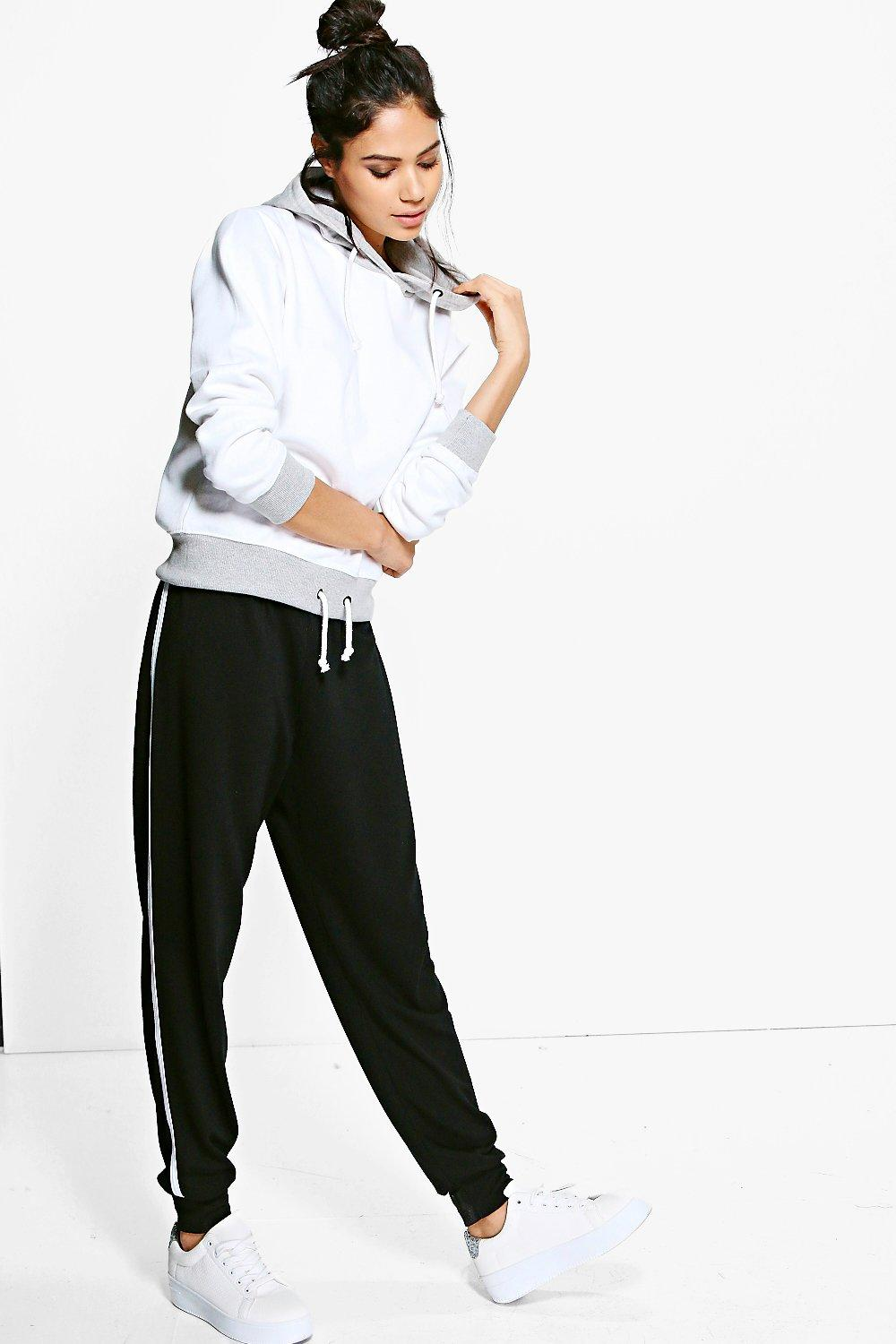 Lottie Contrast Binding Relaxed Joggers
