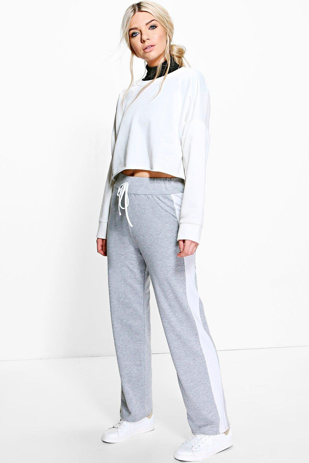Cate Contrast Side Panel Relaxed Joggers