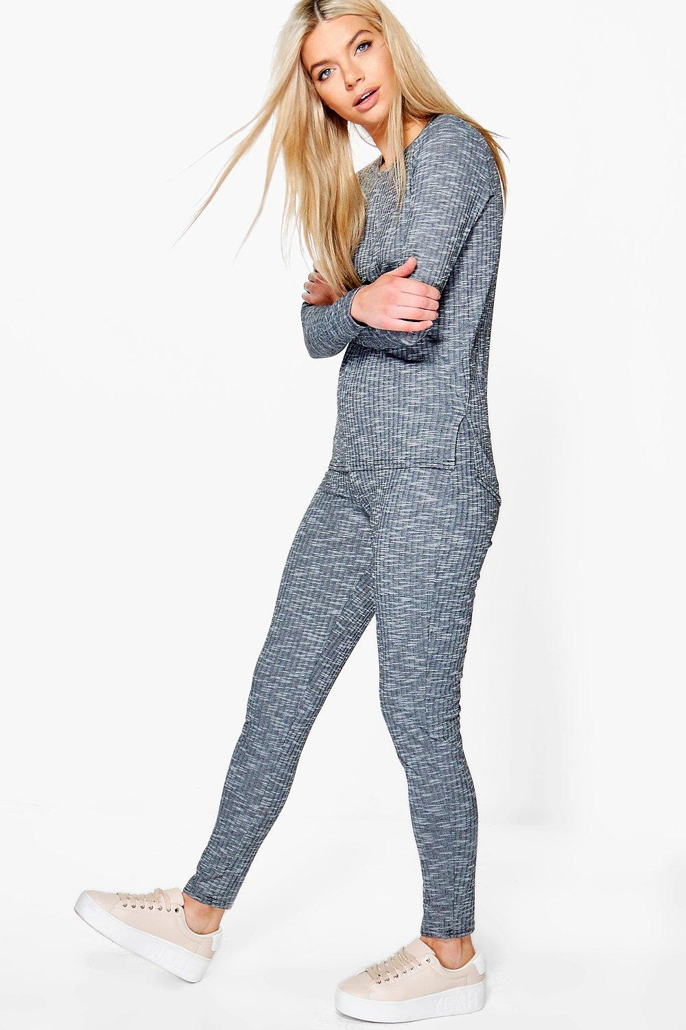 Daisy Rib Knit Loungewear Set