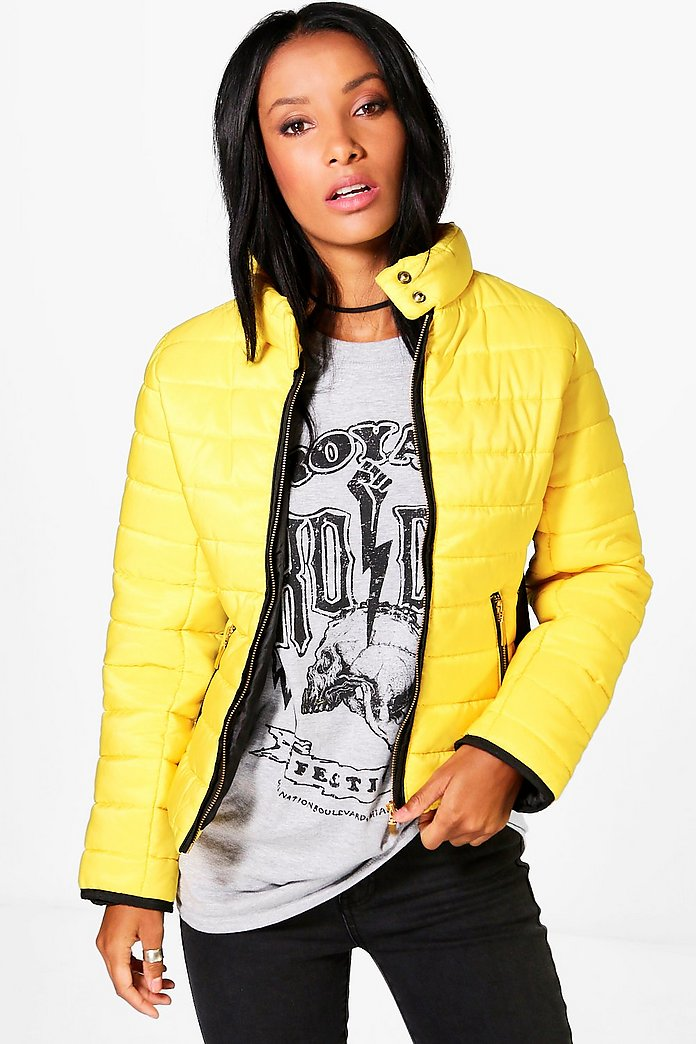 Lily Quilted Contrast Panel Jacket