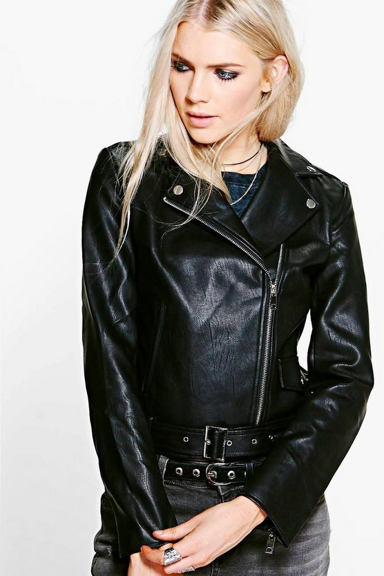 Jasmine PU Leather Biker Jacket