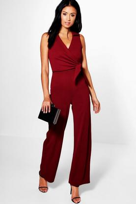 Sophie Wrap Over Tie Jumpsuit
