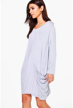Jennifer Oversized Jersey Shift Dress