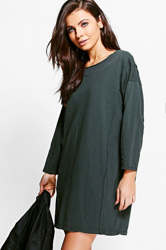Tina Oversized Roll Sleeve Sweat Dress