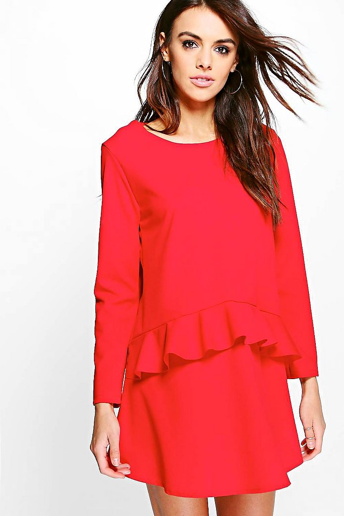 Georgie Frill Front Woven Shift Dress