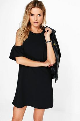 Haveva Cold Shoulder Shift Dress