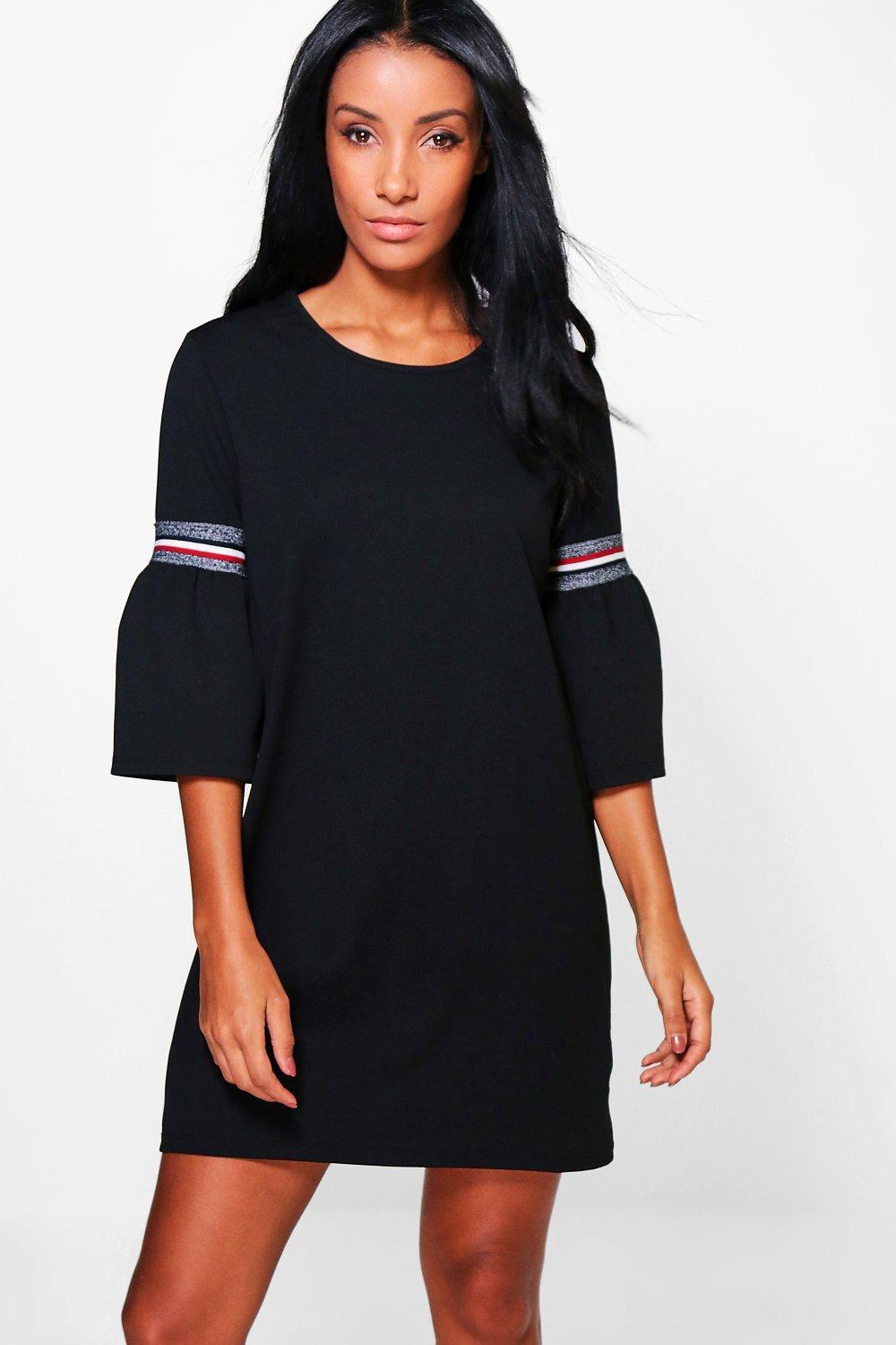 Charlotte Flute Sleeve Shift Dress