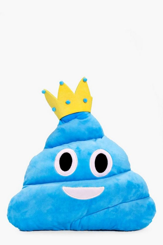 Princess Poo Emoji Cushion