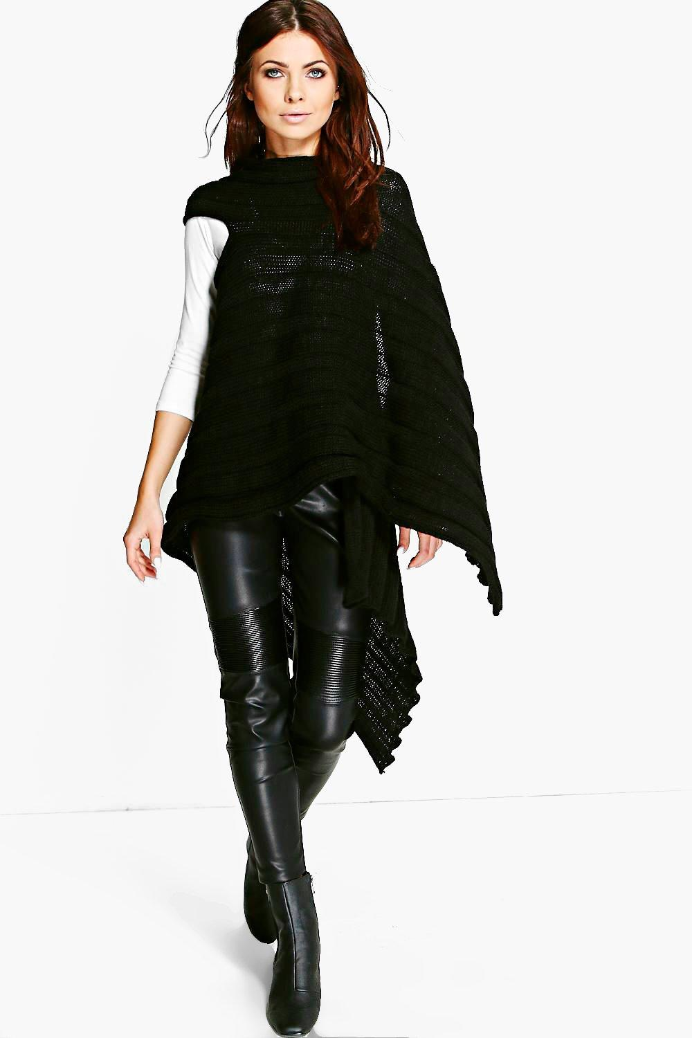 Louise Oversize Rib Arm Hole Cape Scarf