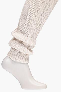 Clara Cable Knit Thigh High Legwarmers
