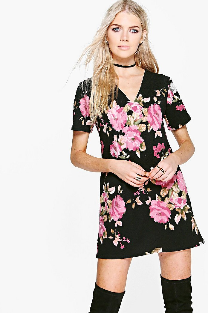 Branwen Floral Shift Dress