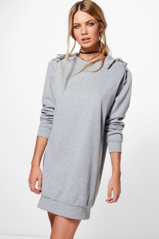 Danerys Lace Up Jumper Shift Dress