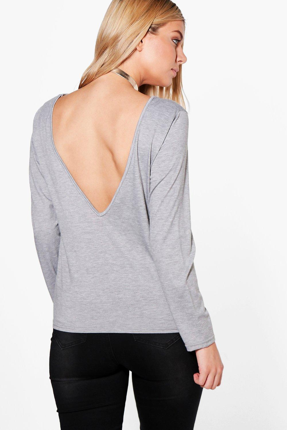 Molly V Back Long Sleeve T-Shirt