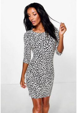 Alexandra Animal Printed Bodycon Dress