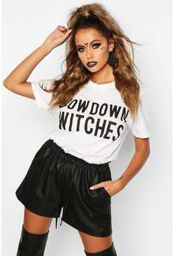 Jessica Bow Down Witches Halloween T-Shirt