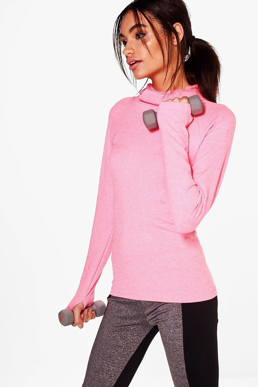 Fit Seamless Running Hoody  pink