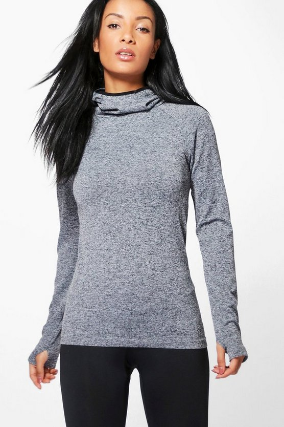 Katie Fit Seamless Running Hoody