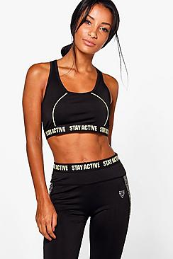 Grace Fit Stay Active Sports Bra