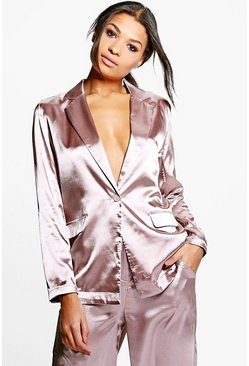 Freya Premium Satin Tailored Blazer