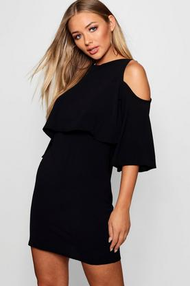 Diane Cold Shoulder Double Layer Dress