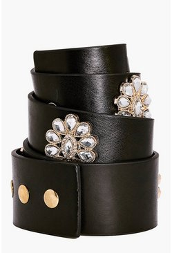 Eve Boutique Floral Embellished Waist Belt