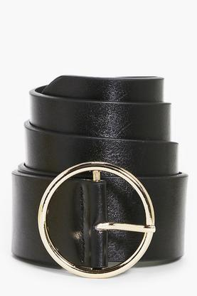 Taylor Circle Buckle Boyfriend Belt