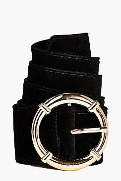 Macy Circle Suedette Boyfriend Belt