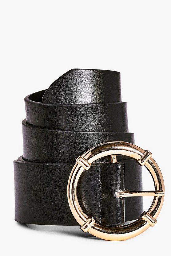 Clara Circle Buckle Boyfriend Belt